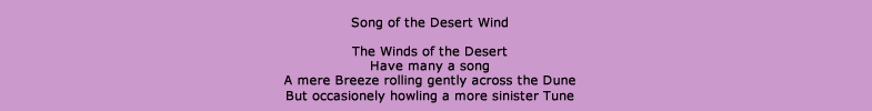 Song of the Desert Wind